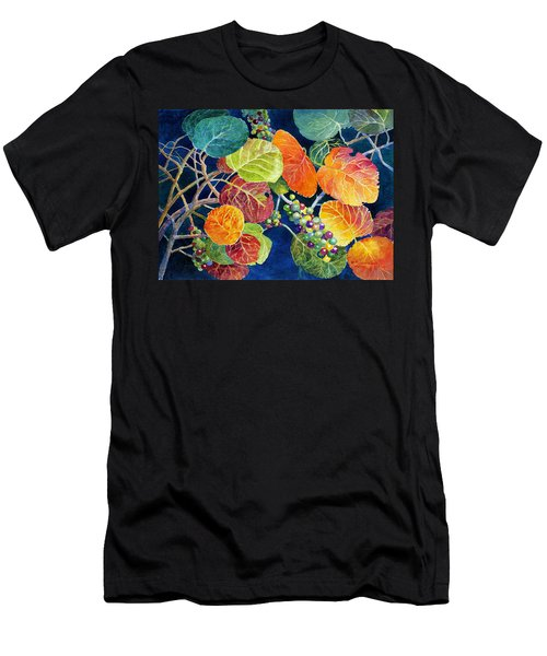 Men's T-Shirt (Slim Fit) featuring the painting Sea Grapes II by Roger Rockefeller