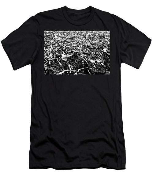 Men's T-Shirt (Slim Fit) featuring the photograph Sea Of Bicycles 3 by Joey Agbayani