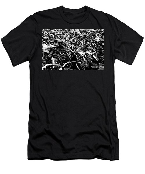 Men's T-Shirt (Slim Fit) featuring the photograph Sea Of Bicycles 2 by Joey Agbayani