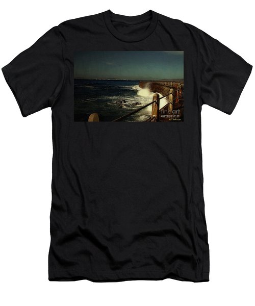 Sea Wall At Night Men's T-Shirt (Athletic Fit)