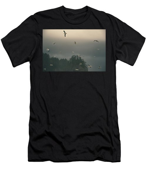 Seagulls In A Storm Men's T-Shirt (Athletic Fit)