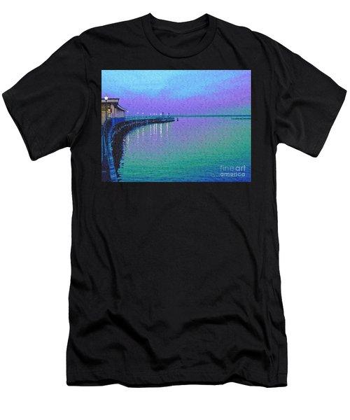 Painterly Seascape Purple Flurry Men's T-Shirt (Athletic Fit)
