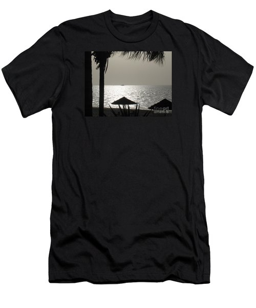 Seaside Dinner For Two Men's T-Shirt (Slim Fit) by Patti Whitten