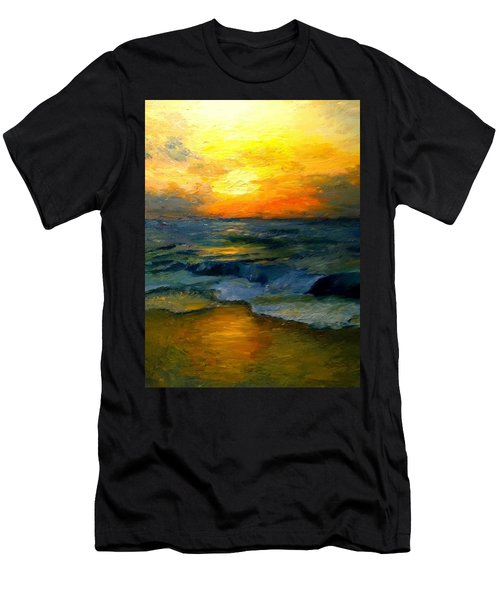 Seaside Sunset Men's T-Shirt (Athletic Fit)