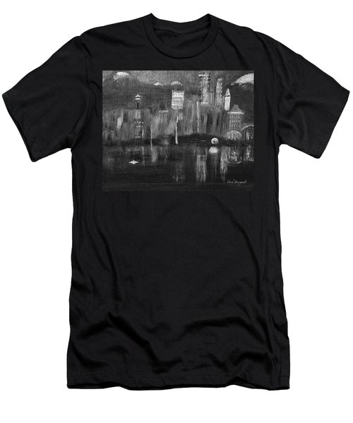 Seattle Black And White Men's T-Shirt (Athletic Fit)