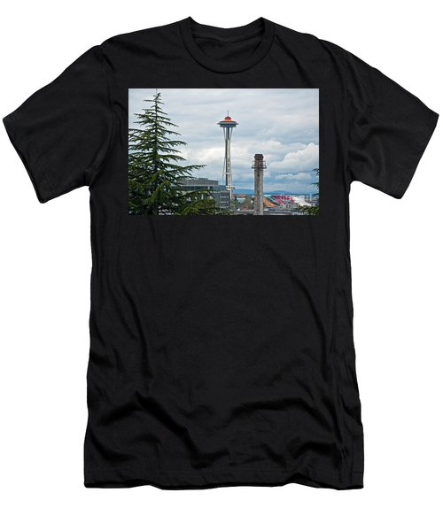 Seattle Spaceneedle Golden Anniversary Art Prints Men's T-Shirt (Athletic Fit)