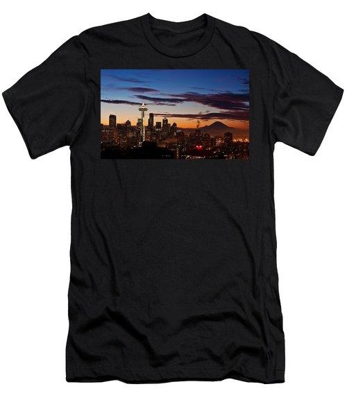 Seattle Sunrise Men's T-Shirt (Athletic Fit)