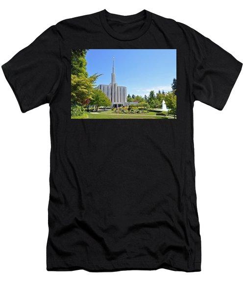 Seattle Temple - Horizontal Men's T-Shirt (Athletic Fit)