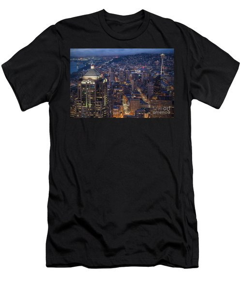Seattle Urban Details Men's T-Shirt (Slim Fit) by Mike Reid