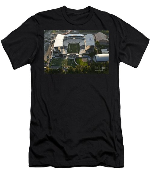 Seattle With Aerial View Of The Newly Renovated Husky Stadium Men's T-Shirt (Athletic Fit)