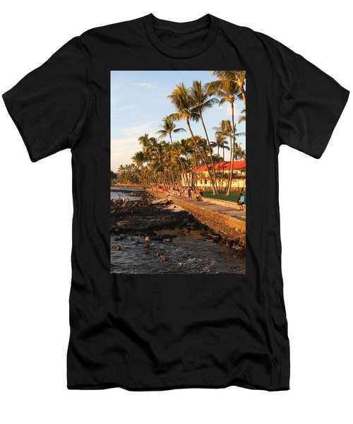 Seawall At Sunset Men's T-Shirt (Athletic Fit)