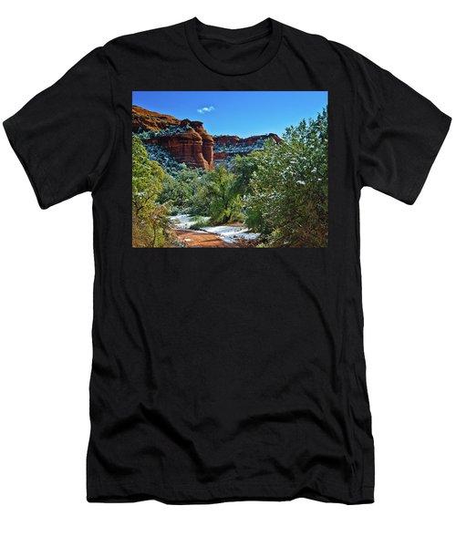 Men's T-Shirt (Slim Fit) featuring the photograph Sedona Arizona - Wilderness Area by Bob and Nadine Johnston