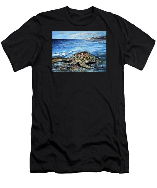 See Weed Turtle Men's T-Shirt (Athletic Fit)