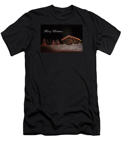 Men's T-Shirt (Slim Fit) featuring the photograph Seeley Lake- Christmas Eve Montana Style by Janie Johnson