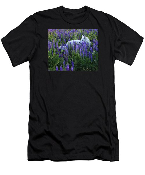 Men's T-Shirt (Slim Fit) featuring the photograph Sekani In Lupine by Sean Sarsfield