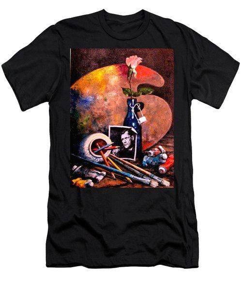 Self Portrait With Palette Men's T-Shirt (Athletic Fit)