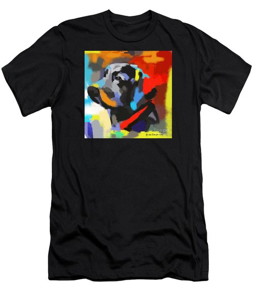 Men's T-Shirt (Slim Fit) featuring the painting Dog Sem by Go Van Kampen