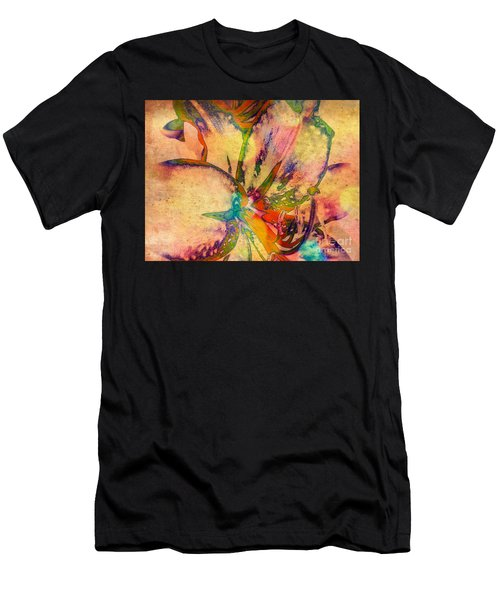 Springtime Floral Abstract Men's T-Shirt (Athletic Fit)