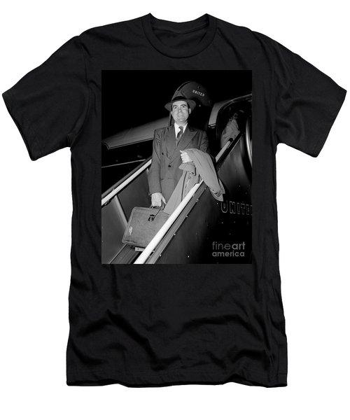 Men's T-Shirt (Slim Fit) featuring the photograph Senator Nixon 1952 by Martin Konopacki Restoration