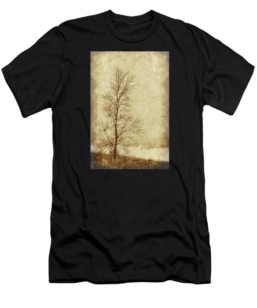 Sentinel Tree In Winter Men's T-Shirt (Athletic Fit)