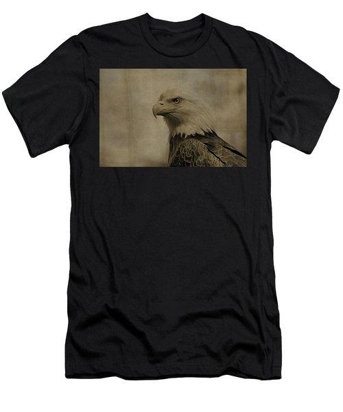 Sepia Bald Eagle Portrait Men's T-Shirt (Athletic Fit)
