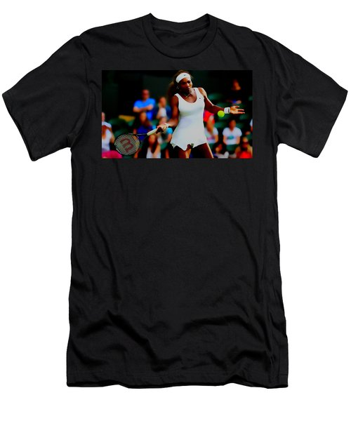Serena Williams Making It Look Easy Men's T-Shirt (Slim Fit) by Brian Reaves