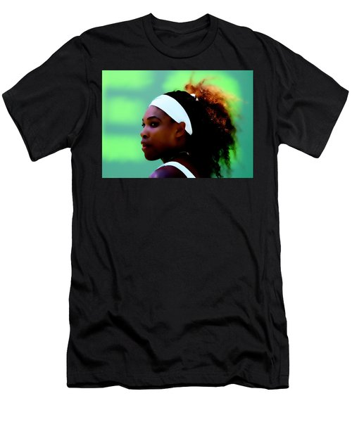 Serena Williams Match Point Men's T-Shirt (Slim Fit) by Brian Reaves