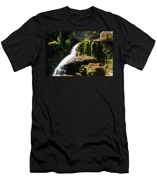 Men's T-Shirt (Slim Fit) featuring the photograph Serenity by Trina  Ansel