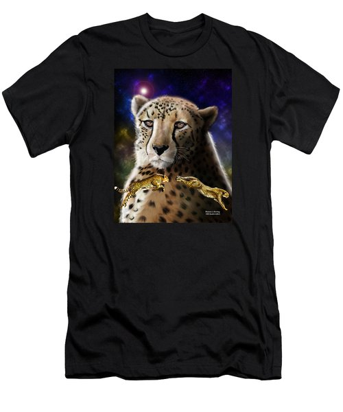 Men's T-Shirt (Athletic Fit) featuring the digital art First In The Big Cat Series - Cheetah by Thomas J Herring