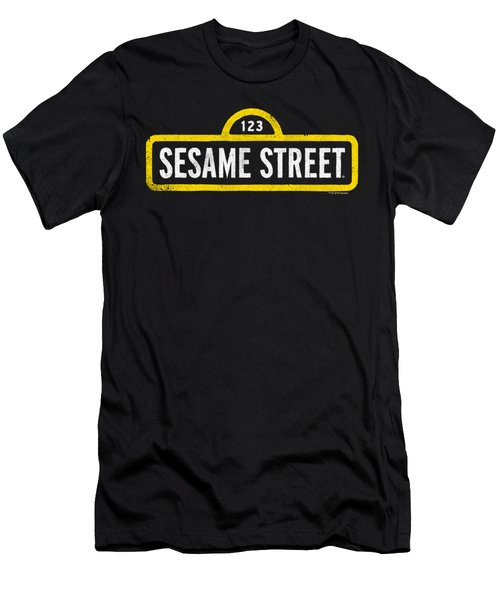 Sesame Street - Rough Logo Men's T-Shirt (Athletic Fit)