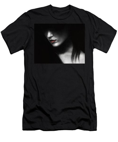 Men's T-Shirt (Slim Fit) featuring the painting Shadowed In My Mind by Pat Erickson