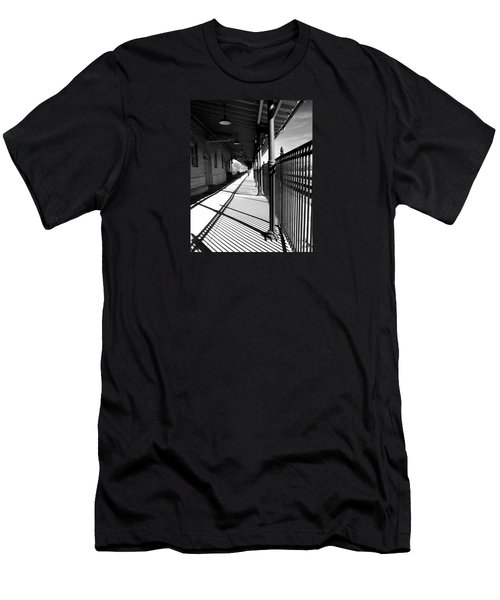 Shadows At The Station Men's T-Shirt (Athletic Fit)