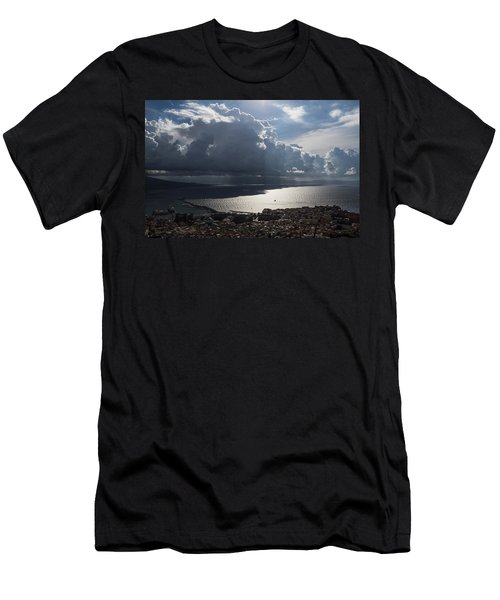 Men's T-Shirt (Slim Fit) featuring the photograph Shadows Of Clouds by Georgia Mizuleva