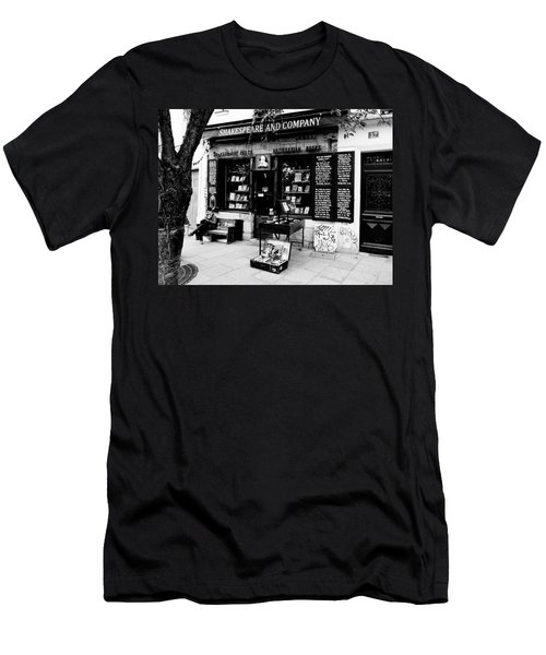 Shakespeare And Company Boookstore In Paris France Men's T-Shirt (Athletic Fit)