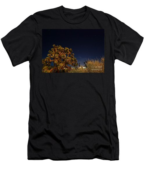 Men's T-Shirt (Slim Fit) featuring the photograph Sharing The Land by Angela J Wright