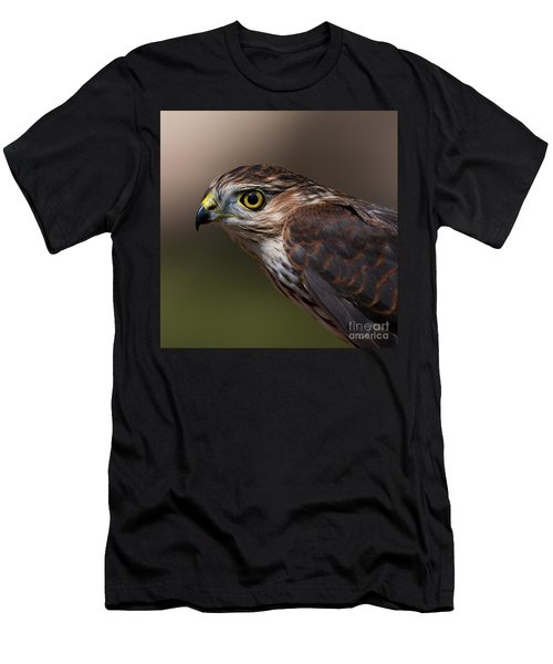 Sharp-shinned Hawk.. Men's T-Shirt (Athletic Fit)