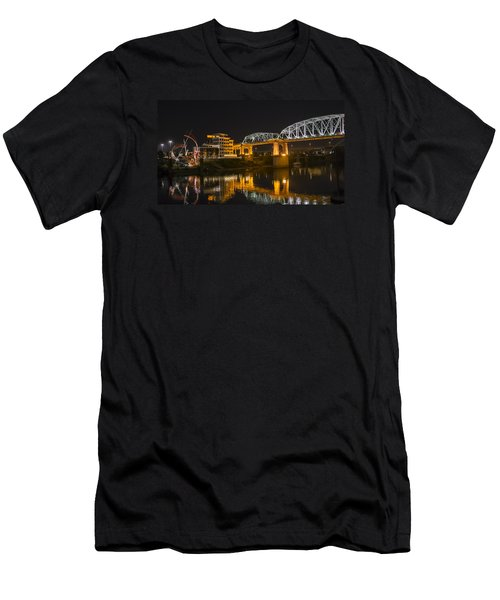 Men's T-Shirt (Slim Fit) featuring the photograph Shelby Street Bridge Nashville by Glenn DiPaola