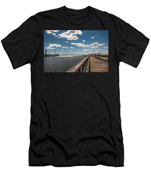 Shem Creek Pavilion  Men's T-Shirt (Athletic Fit)