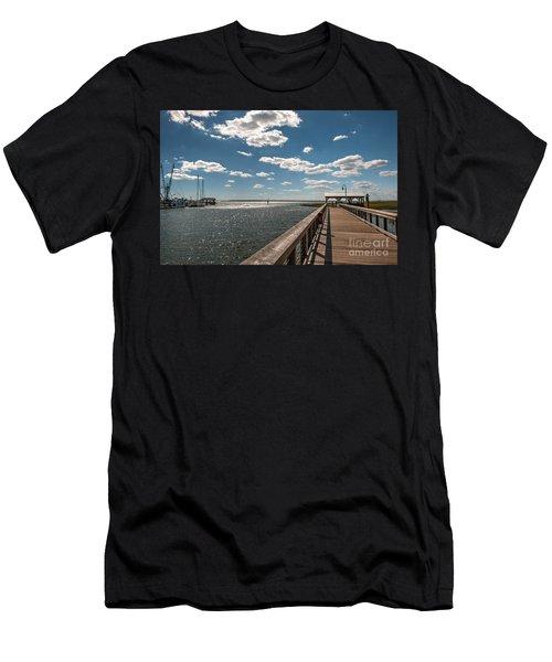 Shem Creek Pavilion  Men's T-Shirt (Athletic Fit)