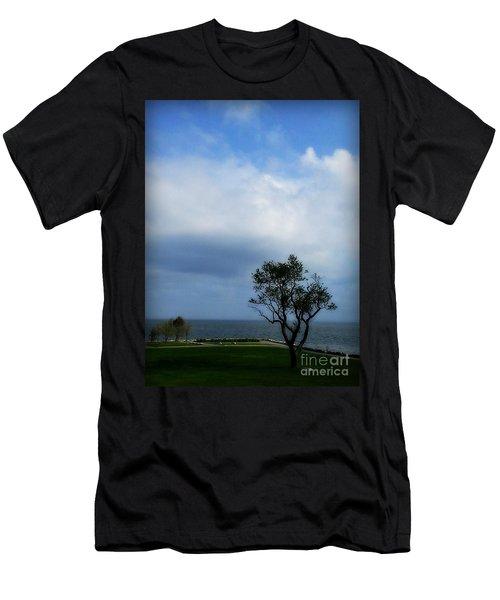 Sherwood Island Men's T-Shirt (Slim Fit) by Kristine Nora