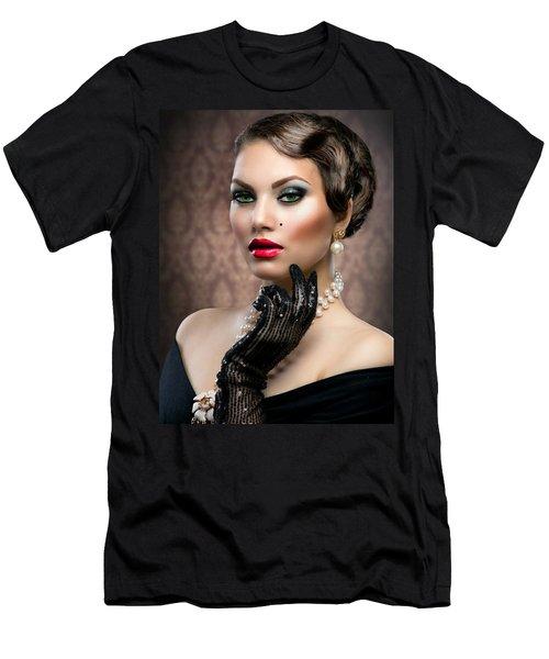 Men's T-Shirt (Slim Fit) featuring the digital art She's Got Class by Karen Showell