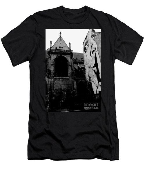 Shhh God Asleep Men's T-Shirt (Athletic Fit)