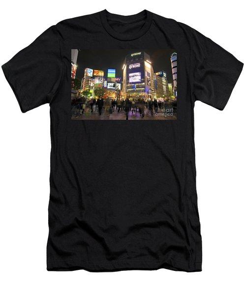 Shibuya Crossing At Night Tokyo Japan  Men's T-Shirt (Athletic Fit)