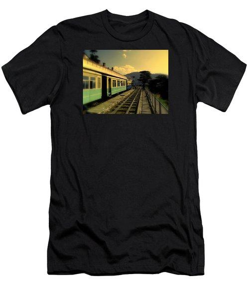 Shimla Railway Station Men's T-Shirt (Slim Fit) by Salman Ravish