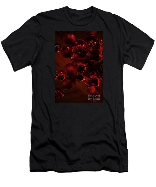 Men's T-Shirt (Slim Fit) featuring the photograph Shimmer In Red by Linda Shafer