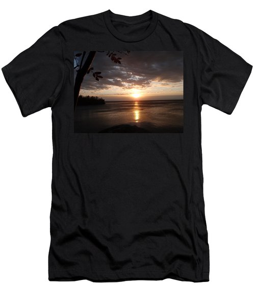 Men's T-Shirt (Slim Fit) featuring the photograph Shimmering Sunrise by James Peterson