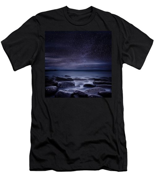 Shining In Darkness Men's T-Shirt (Slim Fit) by Jorge Maia