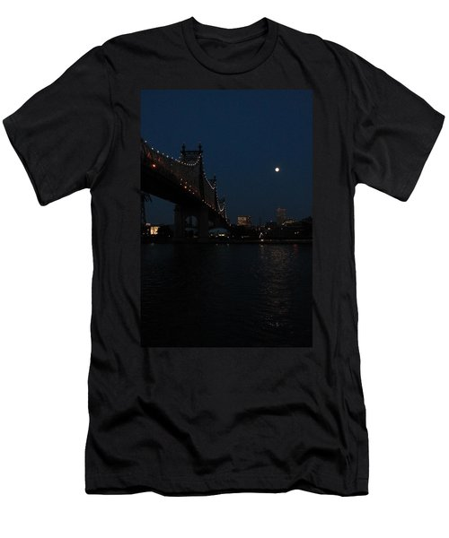 Shining Moon Men's T-Shirt (Athletic Fit)