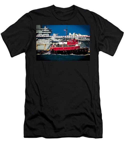 Shipping Lane Hero Men's T-Shirt (Athletic Fit)