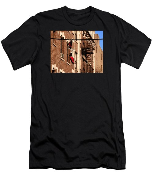 Shoes Hanging Men's T-Shirt (Athletic Fit)